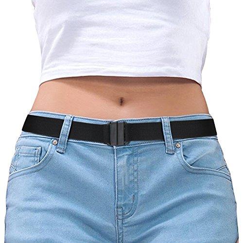 Invisible Belt for Women Black Stretch No Show Belt Adjustable for Dress Jeans Pants