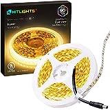 HitLights Warm White LED Light Strip, Premium High Density 3528 - 16.4 Feet, 600 LEDs, 3000K, 300 Lumens per Foot. UL-Listed. 12V DC Tape Light