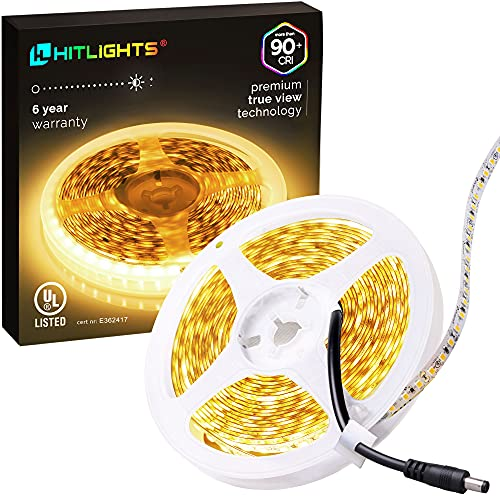 HitLights Warm White LED Light Strip,...