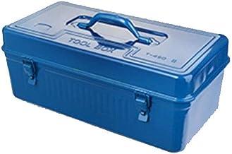 DX Adecuado para Uso doméstico Reparación Herramienta al Aire Libre Caja de Almacenamiento, de Dos Capas Azul Hierro multifunción Tamaño (45 * 23 * 20 cm) (Color: Azul, tamaño: 45 * 23 * 20 cm)