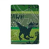 パスポートカバー スキミング防止 本革 パスポートケース 出張 旅行 カードパッケージ 旅行便利グッズ 多機能 旅券ケース 暗い背景上の恐竜 男女兼用