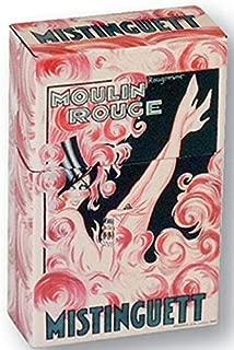French Metal Cigarettes Box Moulin Rouge Review mistinguette Paris 1900