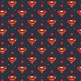 DC Comics Stoff – DC Comics Superman Logo blau – CAM585