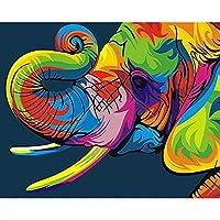 番号で絵象のぬりえ大人のためのキャンバスに手作りのフレームを描く番号で油絵家の装飾壁アート