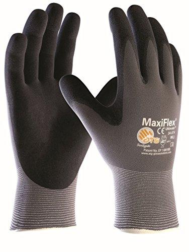 (5 Paar) ATG Handschuhe 34-874 Montagehandschuhe MaxiFlex Ultimate 5 x grau/schwarz 6