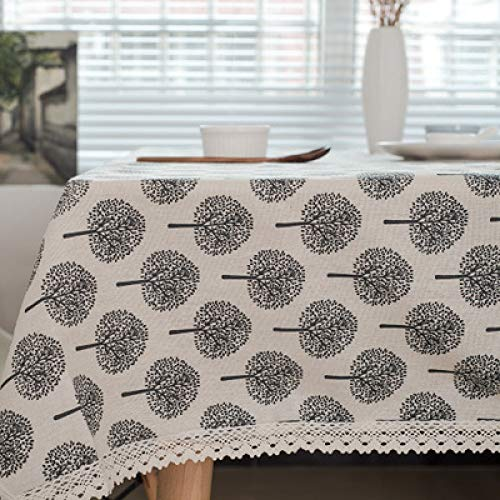 yueyue947 / manteles para Mesa rectangulares en Tela Mantel de Lino/Mantel de Lino de algodón/Mesa de Centro Mantel de Lino de algodón/Blanco 70 * 120cm