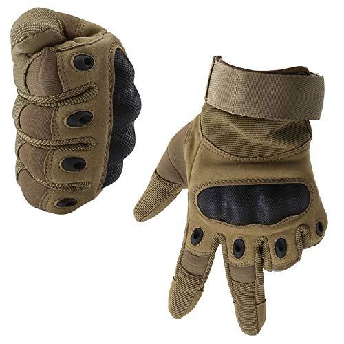 ACBungji Voller Finger Handschuhe Motorradhandschuhe für MTB Mountainbike Motorrad Motocross Quad Paintball Airsoft Security Tactical Militär KTM Fahrrad Rad Herren Damen Touchscreen (Sandfarbe, M)