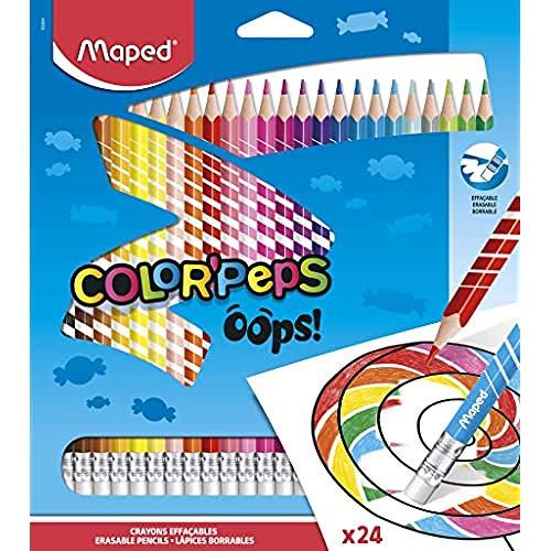 Maped - Radierbare Drei-Kant-Buntstifte, Farbstifte COLOUR'PEPS OOPS - 24x Stifte