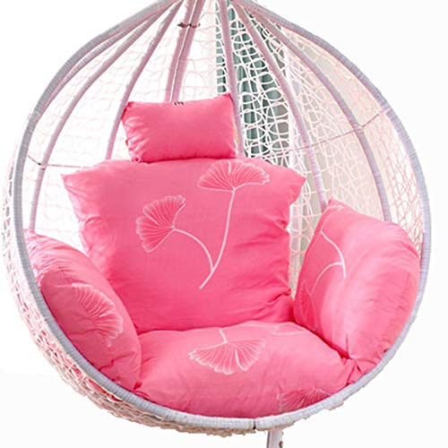 Egg Chair Cushion Only, Hanging Swing Chair Seat Cushion Replacement, Thicken Hanging Hammock Chair Cushion with Headrest and Armrests, Outdoor Garden Chair Pads Watermelon Red