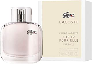 Lacoste Eau de Lacoste L.12.12 Pour Elle Elegant by Lacoste for Women - 3 oz EDT Spray, 90 ml