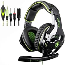 SADES SA810 New Updated Gaming Headset Xbox One Headset Over Ear Stereo Gaming Headphones with Noise Isolation Microphone ...