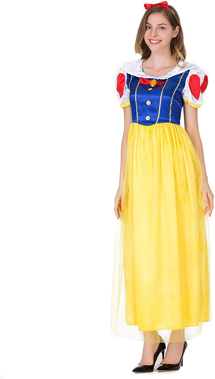 Halloween Cosplay Costume Snow White Maxi Dress Disney Costume Masquerade Costume