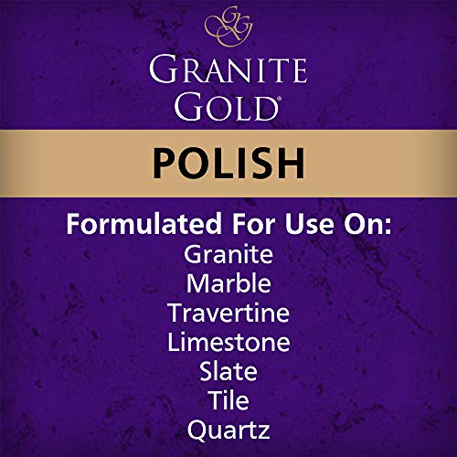 Granite Gold Polish Spray Maintain Shine, Luster and Resist Water Spots, Soap Scum and Fingerprints on Granite, Marble…
