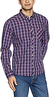 DJ&C Men's Checkered Regular Fit Cotton Casual Shirt