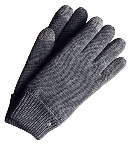 AKAROA ESTD 2019 Bob & Ela, Guantes de punto unisex para mujer y hombre, guantes de invierno de PET reciclados, forrados con forro Thinsulate 3M, 100% vegano gris Medium