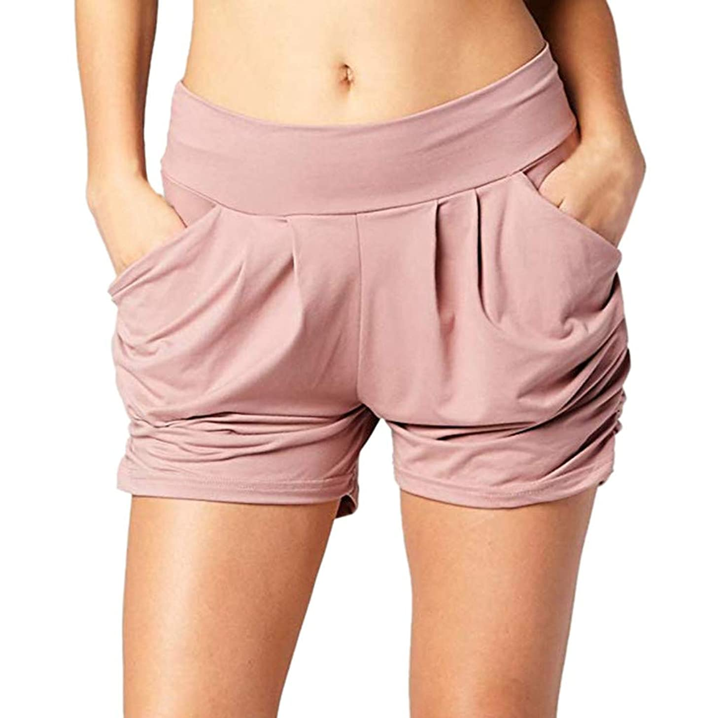 ZEFOTIM ? Loose Hot Pants for Women Summer Solid Lady Summer Beach Shorts Trousers