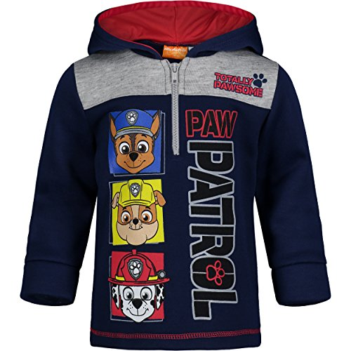 Paw Patrol Toddler Boys Fleece Hoodie Pullover Sweatshirt with Zipper Navy 2T