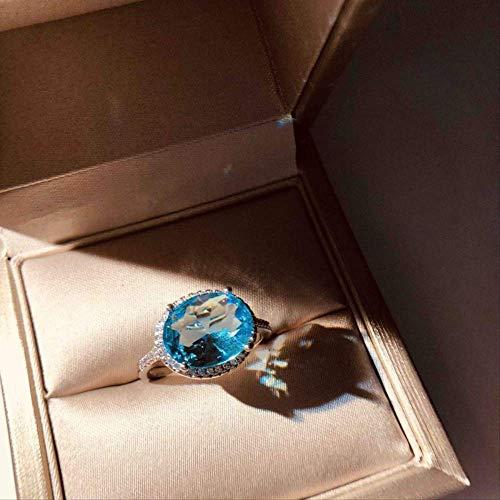 IWINO mooie aquamarijn blauwe zirkoon ring 925 zilveren ring voor vrouwen fijne sieraden vinger ring