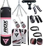 RDX Damen Boxsack Set Gefüllt Kickboxen MMA Muay Thai Boxen mit Deckenhalterung Stahlkette Training...