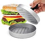 Prensa para hamburguesas, prensa para hamburguesas, hamburguesa de verduras, juego de prensa para hamburguesas de aluminio fundido para deliciosas hamburguesas, empanadas, barbacoa
