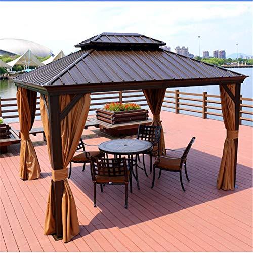 WSN 10x12ft Pavillon im Freien, mit wasserdichtem Moskitonetz UV-beständige Sonnenschutz-Pergola für Gartenaktivitäten im Freien auf der Terrasse