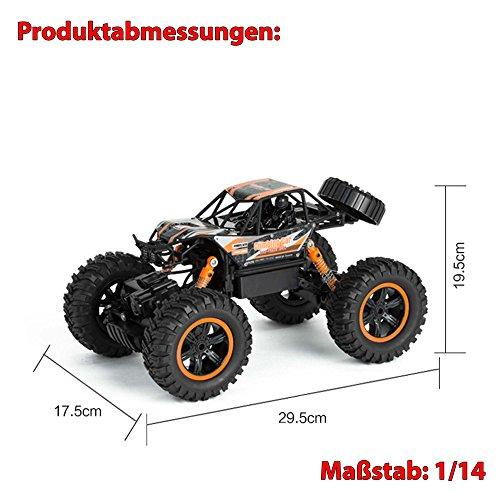 RC Crawler kaufen Crawler Bild 1: 2,4Ghz RC ferngesteuerter 4WD Antrieb Crawler-Buggy, Kletterfahrzeug, Truck, Fahrzeug, Maßstab 1:14, Auto, Car, Komplett-Set*