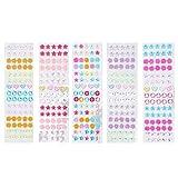 SUPVOX 5 Blatt Ohrringe zum Aufkleben für Mädchen 3D-Edelstein-Sticker Selbstklebender Strass-Sticker für Mädchen