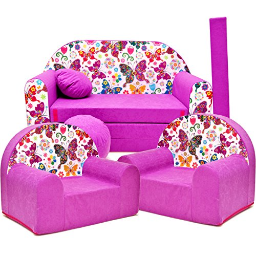 Barabike M33 kit de Lot, Mini pour Enfants, bébé Lot de 3 pour Enfants Canapé + 2 Fauteuil pour Enfant
