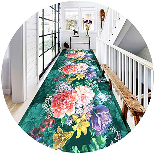 Grande tappeto tappeto tappeto per scale per corridoio, 3D colorato fiore modello lungo corridoio tappeto domestico hall hall tappeto tappeto runner l