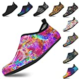 Yes we Vibe Water Shoes + Barefoot Shoes + Aqua Socks - Non-Slip & Quick-Dry - for Men and Women Popping Peace Butterfly Design