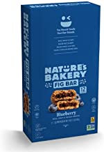 Nature's Bakery Whole Wheat Fig Bars, Blueberry, Real Fruit, Vegan, Non-GMO, Snack bar, Twin packs- 12 count