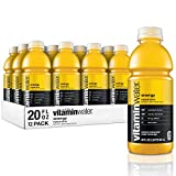 Vitaminwater Energy, Tropical Citrus Flavored, Electrolyte Enhanced Bottled Water with Vitamin b5, b6, b12, 20 Fl Oz, 12 Pack