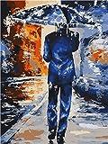 nobrand Cuadros para Pintar por Numeros Figura pintura DIY adulto pintura al óleo digital lienzo set regalo de vacaciones creación de arte hecho a mano-Con Marco 40X50Cm