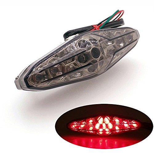 Heinmo Moto de frein arrière plaque support Feu arrière lumière rouge