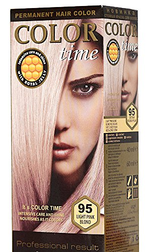Color Time Haarfarbe Permanent, mit Gelée royale, 95 Hellrosa Blondine