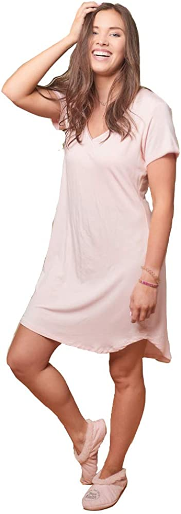 Faceplant Popular overseas Cheap bargain Bamboo Claire Sleeve Nightgown Short