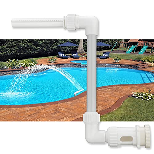 USLICCX Swimming Pool Waterfall Fountain - Above In ground Pool Spray Cooling Sprinklers, Attach on Water Return Jets Fitting, Spa Accessories Pond Decor