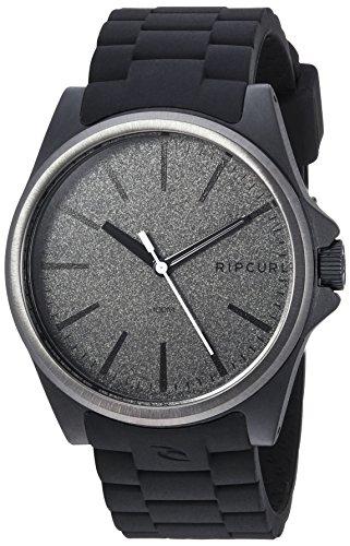Rip Curl A3120-DSH - Reloj Deportivo de Cuarzo para Hombre, de plástico y Silicona, Color Negro