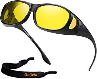 Night Driving Over Glasses for Men Women, Fit Over Prescription Glasses Clearsight Day & Night Driving 100 UV Protection