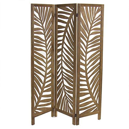Deco Line - Biombo de 3 paneles, madera, 180 cm