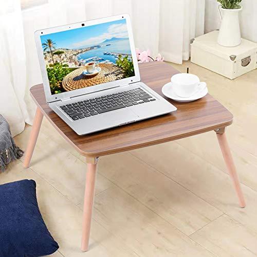 Omabeta Tavolino da Tavolo per Laptop 19,7x19,7x11,8 Pollici Densità + Tavolo da tè in Legno di faggio Scrivania per Camera da Letto