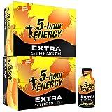 5-hour Energy Shot, Extra Strength Peach Mango, 1.93 Ounce, 24 Count