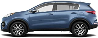 Dawn Enterprises FE-SPORT17 Finished End Body Side Molding Compatible with Kia Sportage - Black Cherry Pearl (9P)