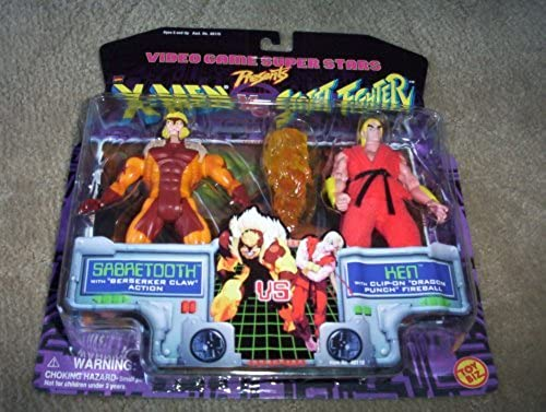 X-Men vs. Street Fighter Sabretooth vs Ken Figure Set by X Men