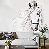 WAFJJ Fotomural Vinilo para Pared Caballo blanco Tamaño:W200XH140 CM Fotomural para Paredes | Mural| Decoración comedores, Salones, Habitaciones.