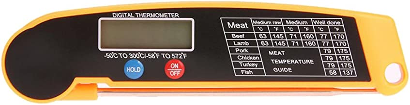 Homyl Termómetro de Lectura Instantánea Pantalla LCD Apagado Automático para Ahorrar batería Herramientas