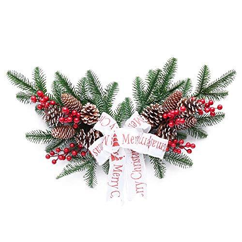 WHSS Suministros de decoración navideña Navidad 60cm Cuernos Rota del PE Guirnalda De Bayas Rojas Decoraciones For Árboles De Navidad Centro Comercial Wall Hotel 60 * 30cm