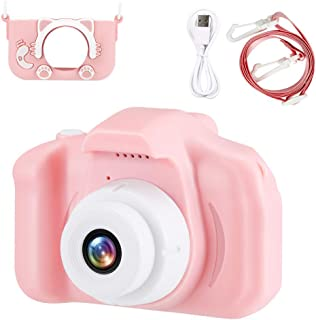 "Kids Camera for Girls, Conbo Digital Dual Camera, 2"" IPS Screen HD 1080P Shockproof Children Video Camera Camcorder for Ag..."