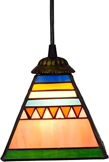 6 Inch Dining Room Kitchen Bedroom Pyramid Glass Pendant Light Ceiling Hanging Lamp High Quality