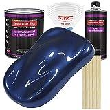 Restoration Shop - Daytona Blue Metallic Acrylic Urethane Auto Paint - Complete Gallon Paint Kit - Professional Single Stage High Gloss Automotive, Car, Truck Coating, 4:1 Mix Ratio, 2.8 VOC